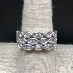 "S&D ""Deco Sparkle Rings""  Beautiful Condition"